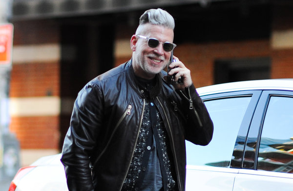 The street-style favorite Nick Wooster, who gets his hair cut every two weeks. Credit Marcy Swingle for The New York Times