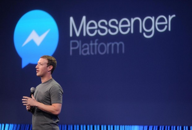 Mark Zuckerberg speaks about Messenger at a 2015 summit Josh Edelson/AFP/Getty Images