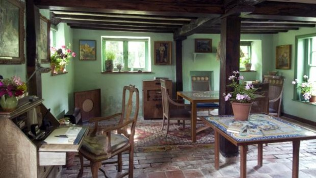 The sitting room of Monk's House; the village nearby is referenced numerous times in Between the Acts (Credit: The National Trust Photolibrary/Alamy)