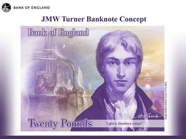 Bank of England unveils new £20 note design featuring JMW Turner http://www.independent.co.uk/news/business/news/bank-of-england-unveils-new-20-note-design-featuring-jmw-turner-a6996751.html Bank of England