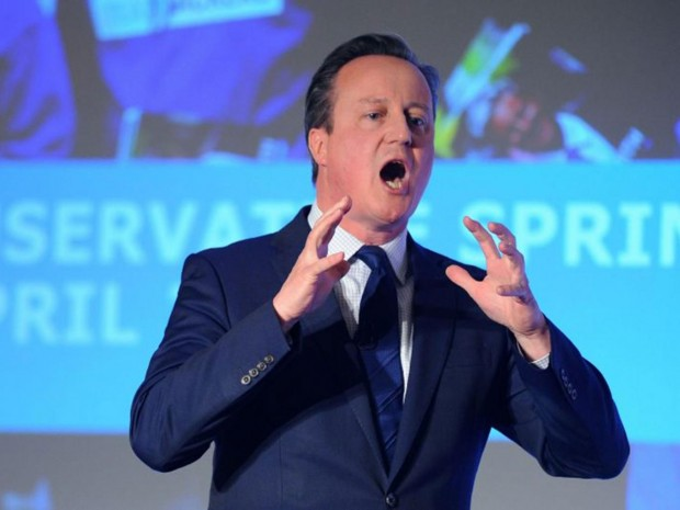"""David Cameron addressed delegates at the Conservative party Spring Forum in central London, admitting it had """"not been a great week"""" AFP"""