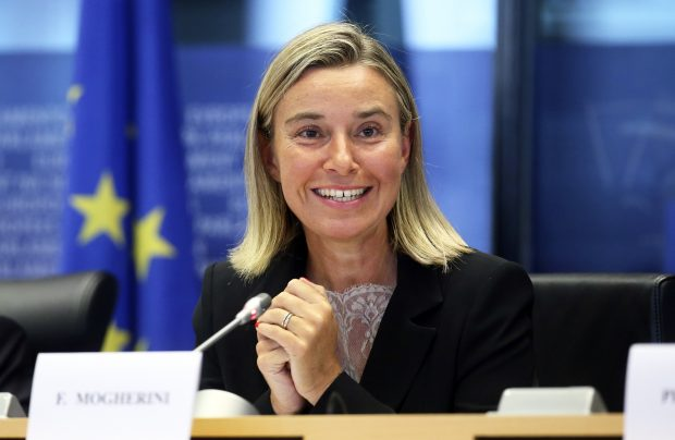 epa04380503 Outgoing Italian Foreign Minister and incoming EU Foreign Policy chief Federica Mogherini attends a hearing by European parliament foreign affairs in Brussels, Belgium, 02 September 2014. Leaders of the European Union's member states on 30 August 2014 appointed Italian Foreign Minister Federica Mogherini as new Foreign Policy chief.  EPA/OLIVIER HOSLET