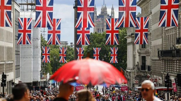 Union flag banners hang across a street near the Houses of Parliament in central London on June 25, 2016, after the announcement that the UK had voted on June 23 to leave the European Union in a national referendum. The result of Britain's June 23 referendum vote to leave the European Union (EU) has pitted parents against children, cities against rural areas, north against south and university graduates against those with fewer qualifications. London, Scotland and Northern Ireland voted to remain in the EU but Wales and large swathes of England, particularly former industrial hubs in the north with many disaffected workers, backed a Brexit. / AFP / Odd ANDERSEN        (Photo credit should read ODD ANDERSEN/AFP/Getty Images)