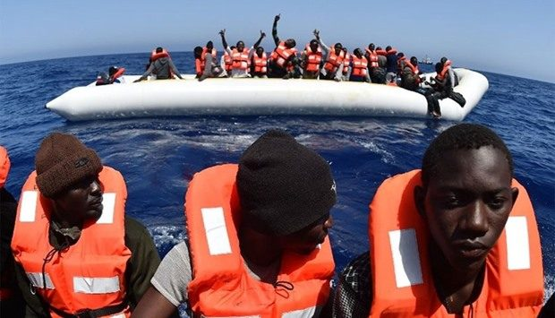 Coastguard and navy boats had took part in 26 different operations which rescued a total of 3,324 migrants on June 26, 2016. AFP