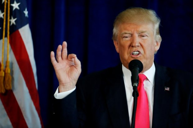 U.S. Republican presidential nominee Donald Trump speaks at a campaign event at Trump Doral golf course in Miami, Florida, U.S. July 27, 2016. REUTERS/Carlo Allegri