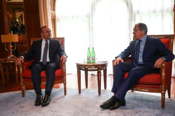 ish Foreign Minister Mevlut Cavusoglu as saying after a meeting with his Russian counterpart Sergei Lavrov in Sochi, Russia on 1 July 2016 [Image: MFA, Russia]