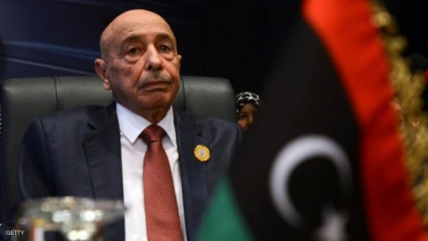 President of the Libyan House of Representative Aguila Saleh. MOHAMED EL-SHAHED/AFP/Getty Images