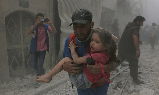 A seven-day pause in fighting will allow aid to flow – if Assad's forces agree to relax their stranglehold on besieged areas such as Aleppo. Photograph: Anadolu Agency/Getty Images