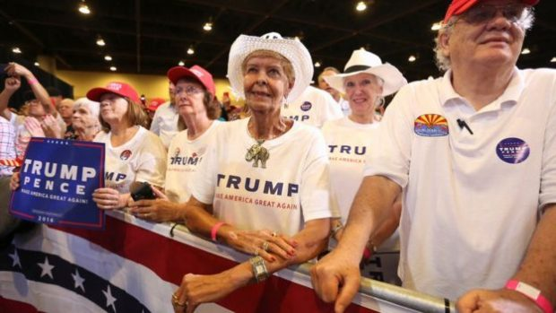 The Phoenix crowd was vocal in its appreciation of what Trump had to say
