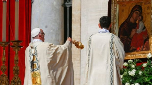 Pope Francis led the canonisation ceremony