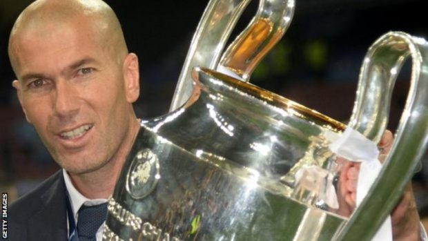 Four points from top spot and a 4-0 hammering by Barcelona in January - but five months later, and with Zidane in charge, Real Madrid were European champions