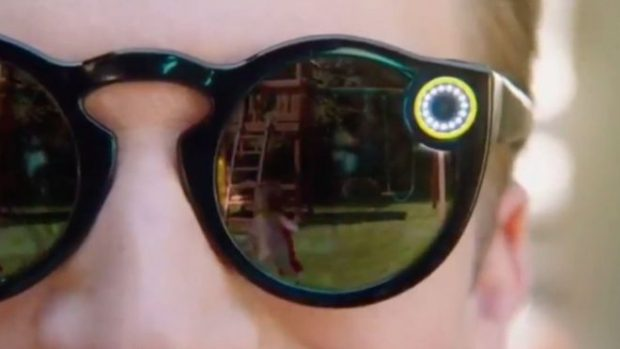 Snap's Spectacles, as seen on a promotional video found on YouTube