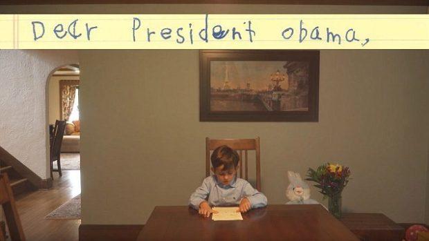Boy writes to Obama https://www.facebook.com/potus/videos/537075249815653/ credit: Facebook