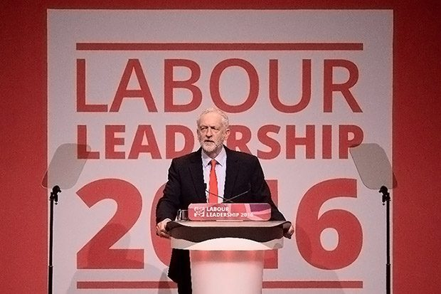British opposition Labour Party leader Jeremy Corbyn after being announced as the winner of the party's leadership contest at the Labour Party Leadership Conference in Liverpool on September 24, 2016 (AFP Photo/Oli Scarff)