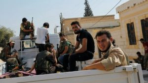 The advance comes after Turkish-backed Syrian rebel forces captured the border town of Jarablus at the end of August