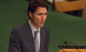 Canadian prime minister Justin Trudeau. The government confirmed on 25 September 2016 that a Canadian had been taken hostage in Libya. Photograph: Albin L/Pacific/ Barcroft Images