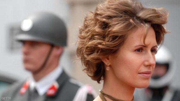 The wife of Syrian President Bashar al-Assad, Asma.  AFP PHOTO / JOE KLAMAR