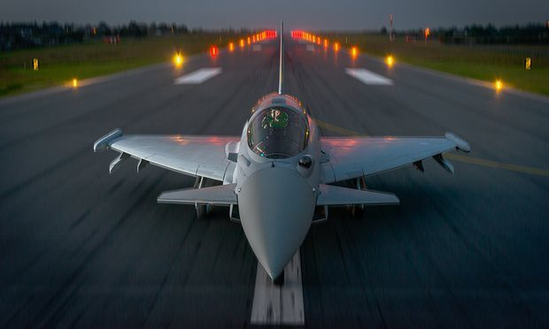 RAF Typhoons will be part of the Nato forces to be deployed in eastern Europe. Photograph: Ray Troll/BAE Systems
