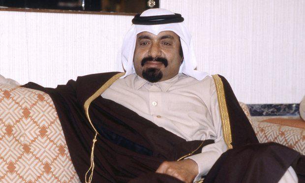 Sheikh Khalifa bin Hamad al-Thani in 1980. Photograph: Randy Taylor/AP