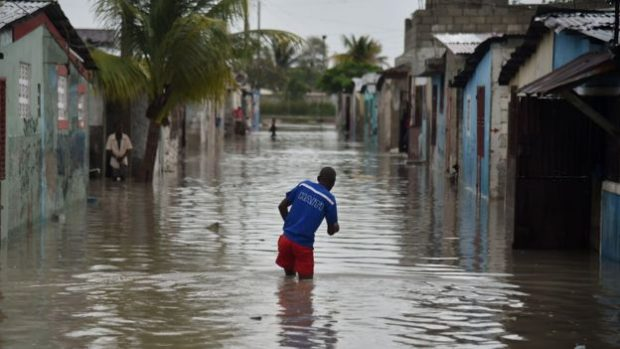 Parts of Port-au-Prince were flooded by the storm