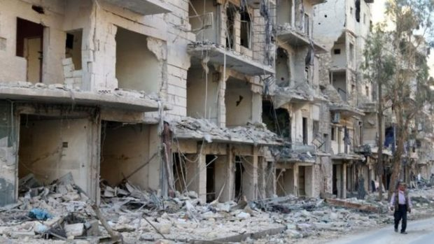 Some 2,700 people have been killed or injured in rebel-held Aleppo in the past month, monitors say