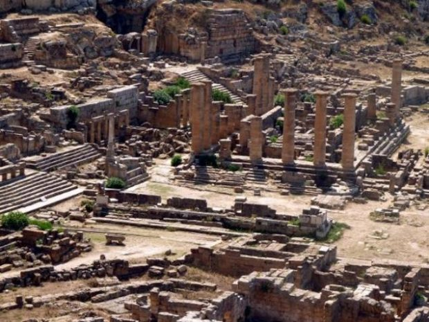 The ruins of the ancient Greek city of Cyrene (or Kyrene), 650 BC, near the eastern Libyan town of Shahat in the Jebel Akhdar, is one of the sites the UNESCO has included in its 'danger' list.