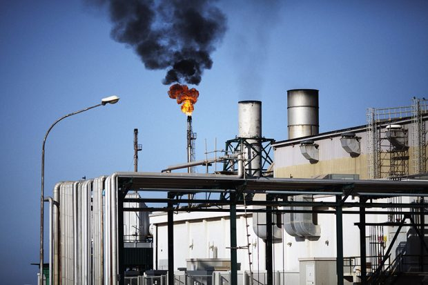 A general view shows a detail of the Zawiya Oil Refinery, some 40 kms west of Tripoli. MARCO LONGARI/AFP/Getty Images