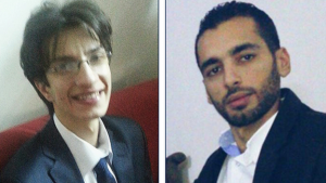 The FBI is offering a reward of up to $100,000 (£77,100) for information about SEA hackers Amad Umar Agha (l) and Firas Dardar