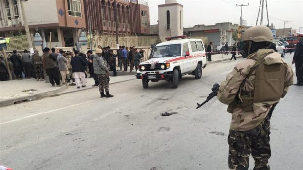 The attacker detonated his explosives at the well-known Baqer-ul-uloom mosque [Reuters]