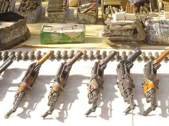 Archive: Arms confiscated by Tunisian forces on Libyan border