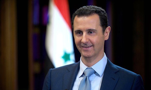 'I would say this is promising, but can he deliver?' Syrian president Bashar al-Assad said in response to Donald Trump's pledge to fight Isis. Photograph: SIPA/Rex/Shutterstock