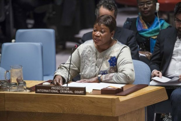 Prosecutor of the International Criminal Court (ICC) Fatou Bensouda briefs the Security Council. © UN Photo/Amanda Voisard