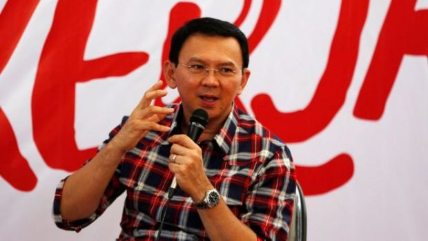 Mr Purnama is seeking a second term as governor of Jakarta