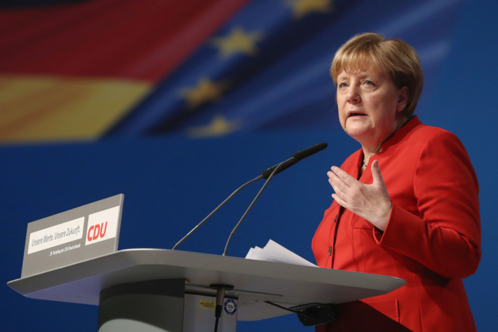German Chancellor Angela Merkel called for a burka ban in her pitch for a fourth term.Photo: Sean Gallup/Getty Images