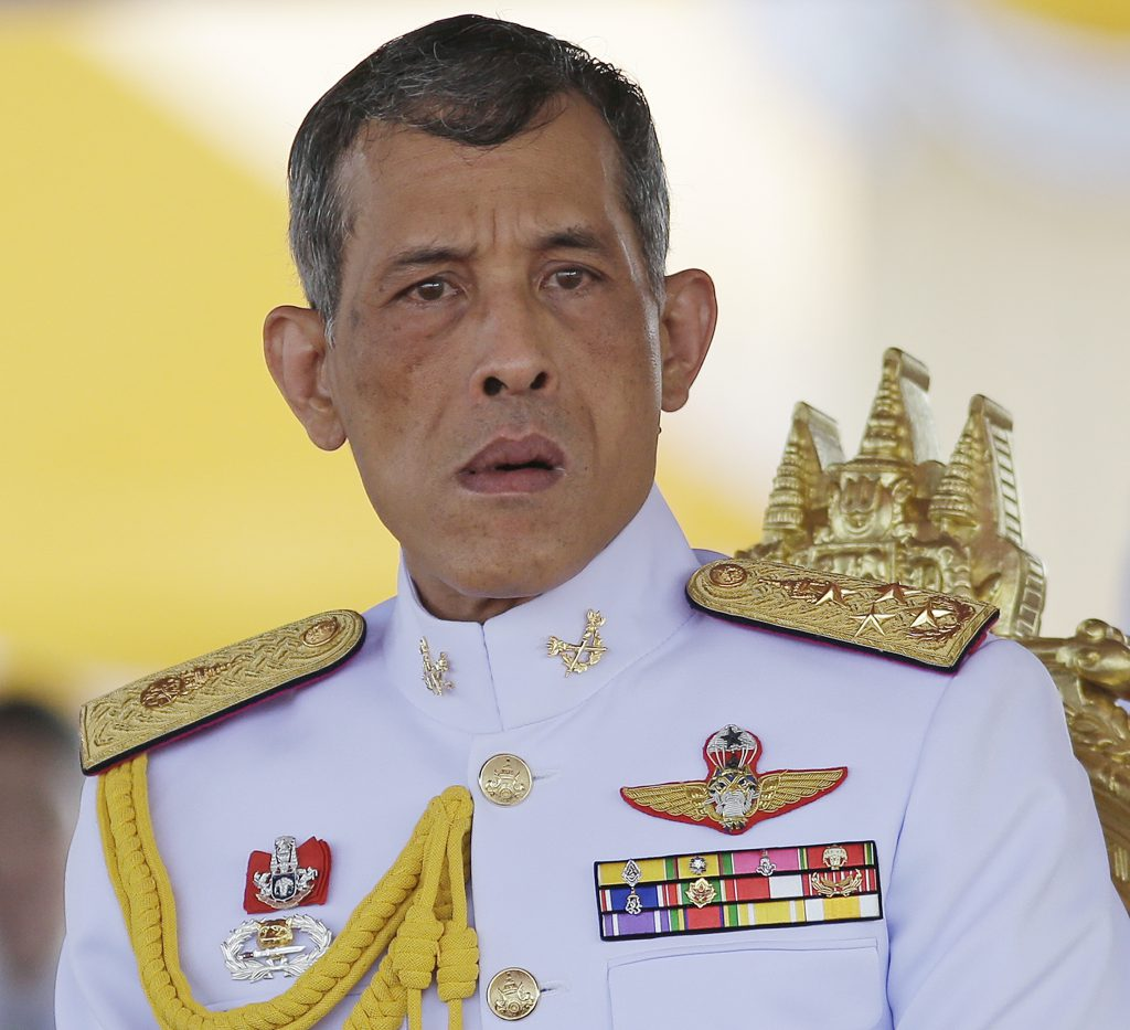 In this May 9, 2016, photo,Thailand's Crown Prince Vajiralongkorn is seated at the royal plowing ceremony in Bangkok. Thailand's Royal Palace said on Thursday, Oct. 13, 2016, that Thailand's King Bhumibol Adulyadej, the world's longest reigning monarch, has died at age 88. Pic: AP