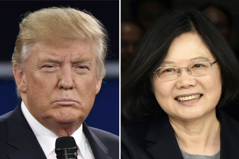 US President-elect Donald Trump broke with decades of foreign policy to speak with Taiwan's President Tsai Ing-wen (AFP Photo/)