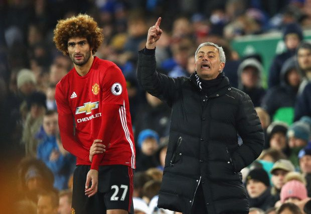 Marouane Fellaini gace away a penalty just minutes after coming on as an 85th minute sub (Getty)