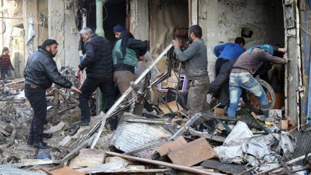 Eighteen people were killed in Maarat al-Numan, the Syrian Observatory said [AFP]